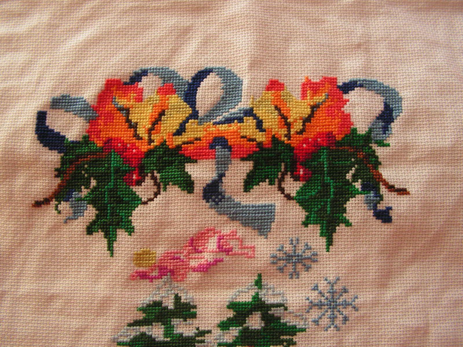 Coussin de Noël oiseaux dans la neige