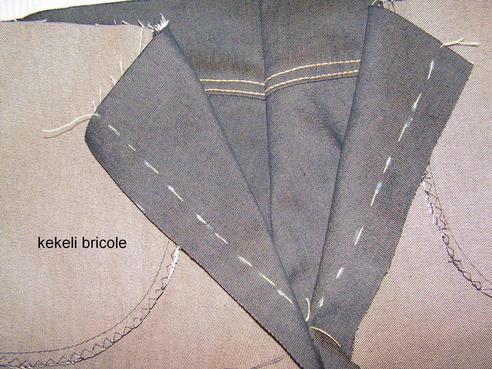 Monter une braguette avec sous-pont (ou sous patte)