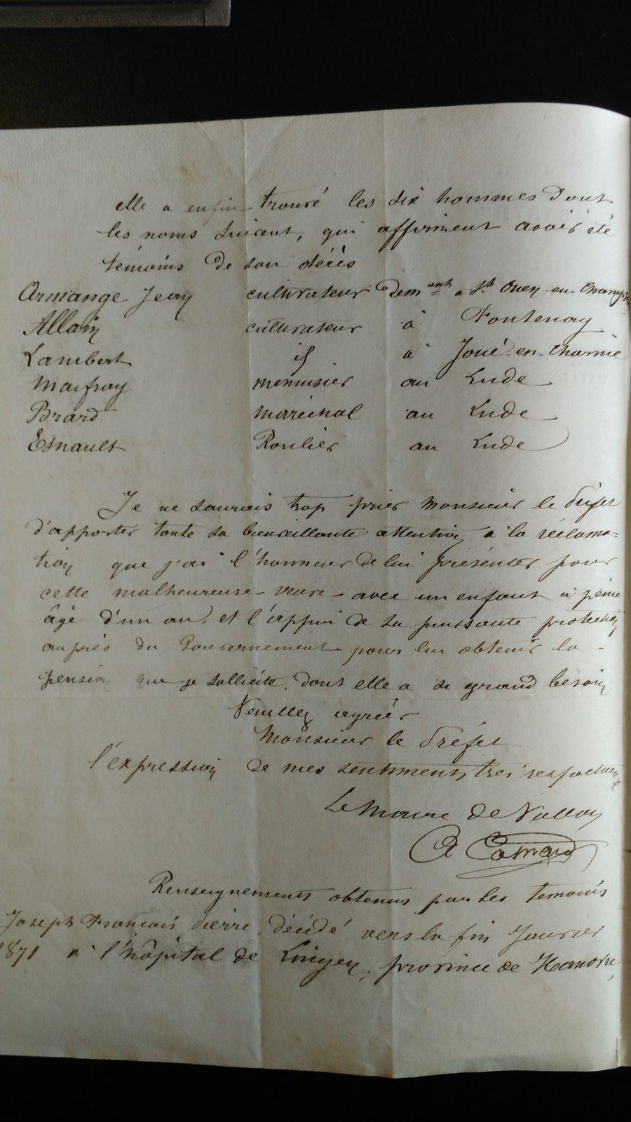 Archives déprtementales de la Sarthe-Dossier 3 R 94