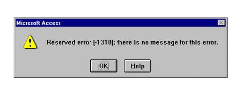Messages d'erreurs insolite sous Windows
