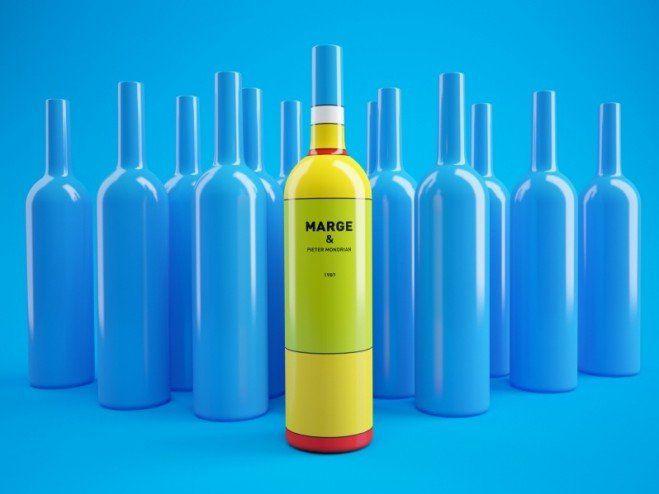 Des bouteilles de vin à l'image des Simpson