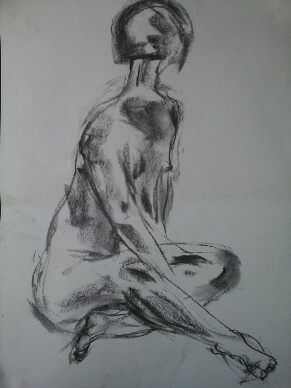 ...les étapes de travail...dessins...trait...le pinceau et l'encre...