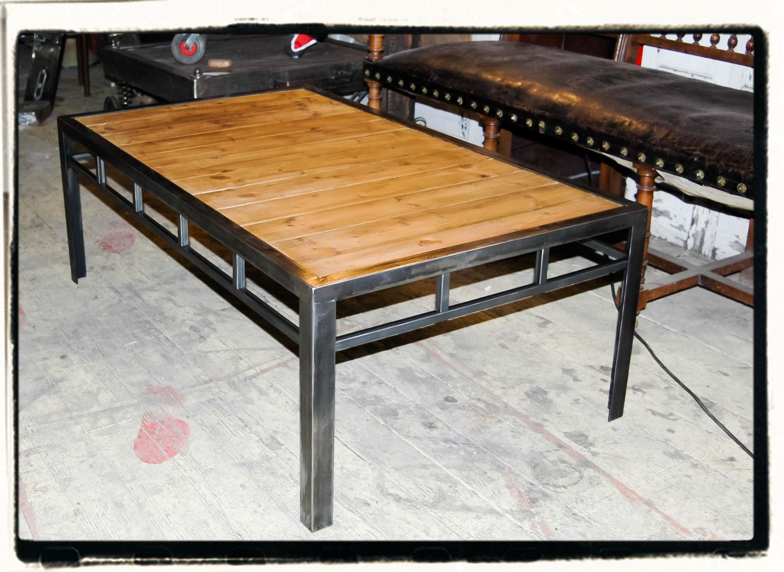 Table basse metal bois l 39 atelier d 39 rv - Table salon bois metal ...
