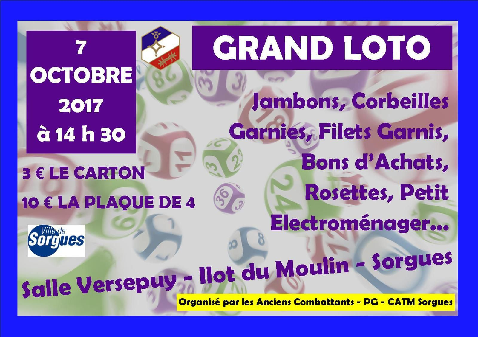 GRAND LOTO DU 7 OCTOBRE 2017