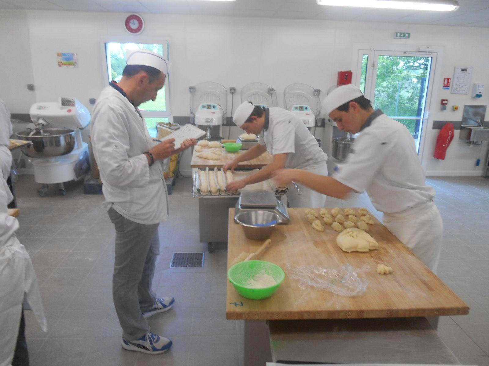 Evaluation des 1ère B/P (Bac.Pro) qui passent le cap boulanger.