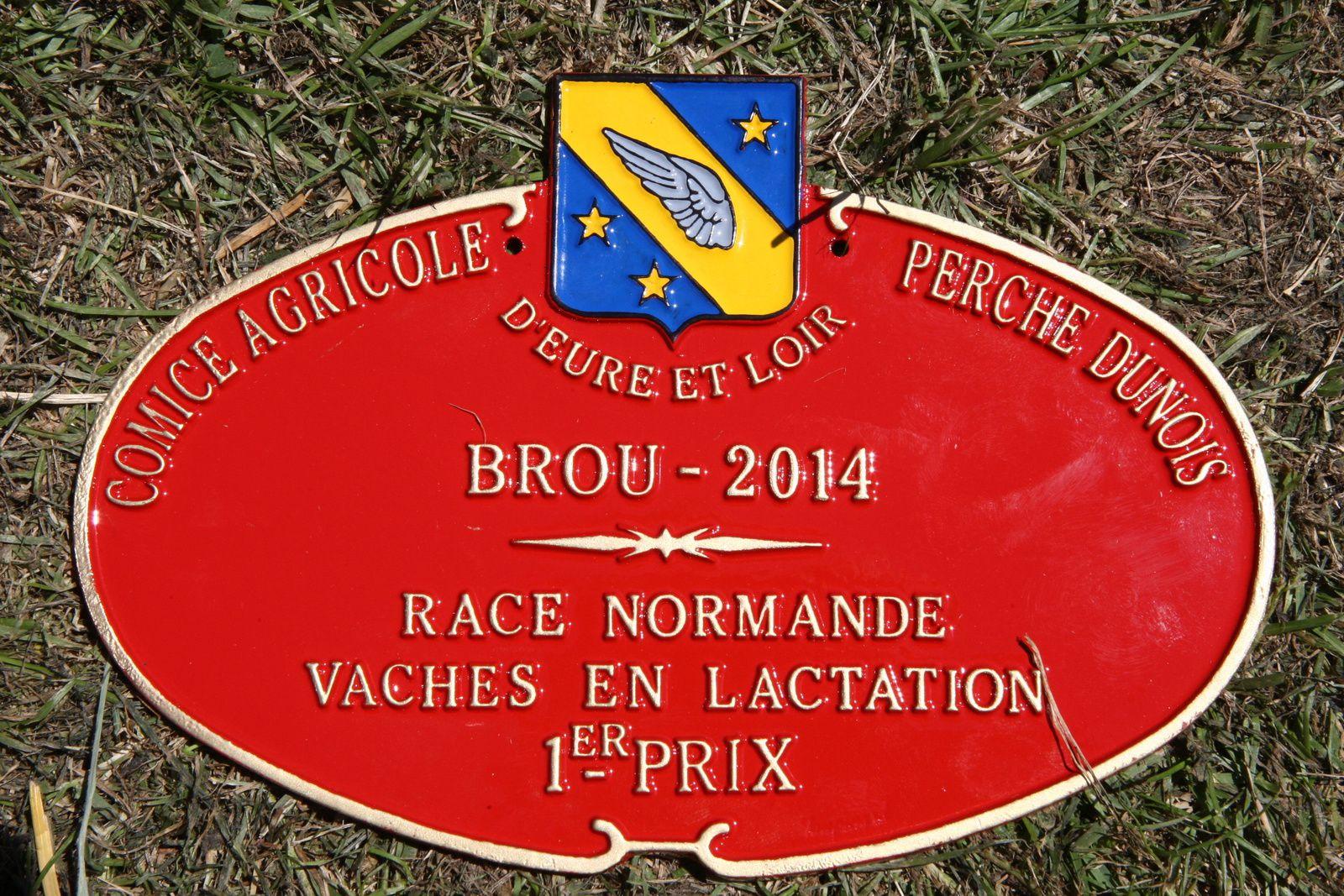 Une plaque que nos éleveurs ont collectionné ce week-end (photo Loïc Legrand)