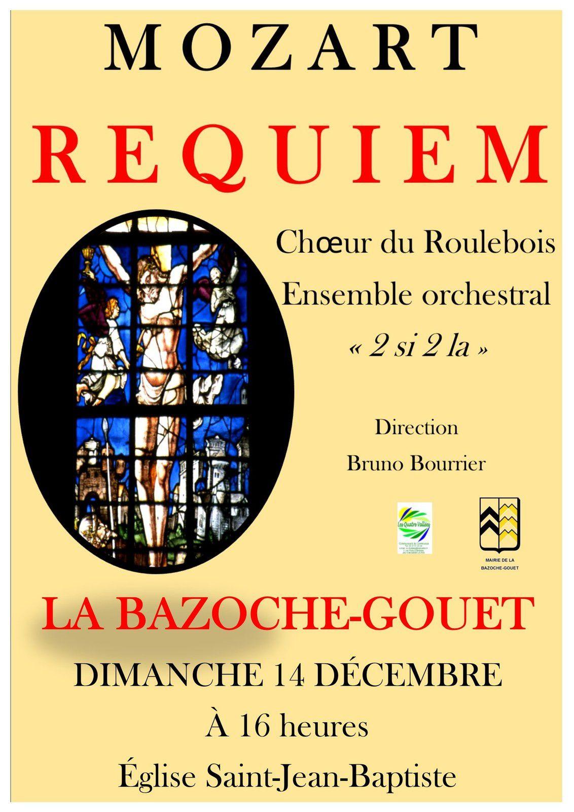 Le Requiem de Mozart à l'Eglise de La Bazoche Gouet