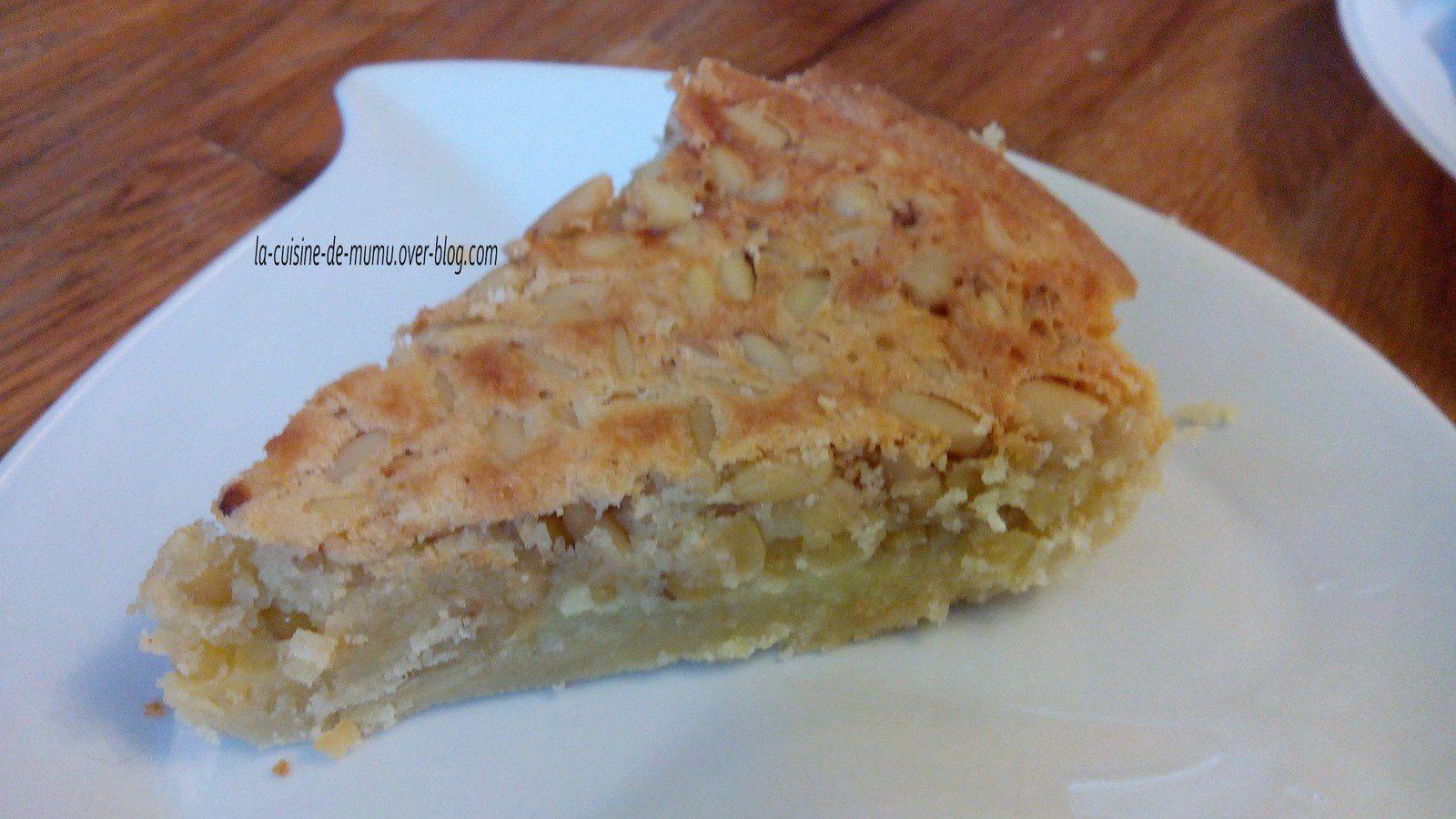 la tarte aux pignons aux saveurs de Provence