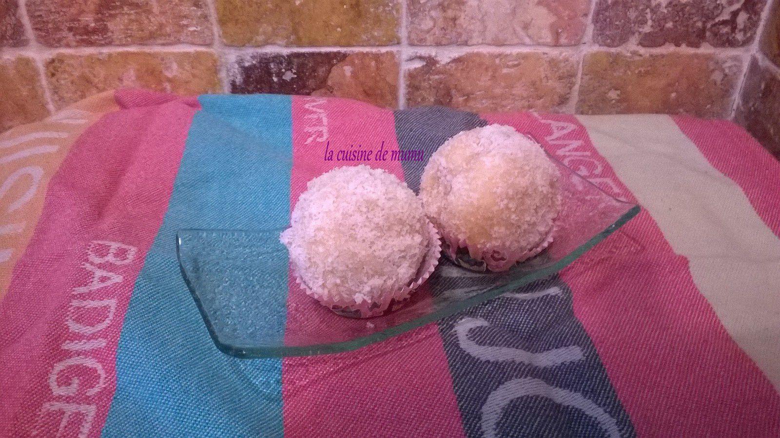 Boule de neige à la noix de coco
