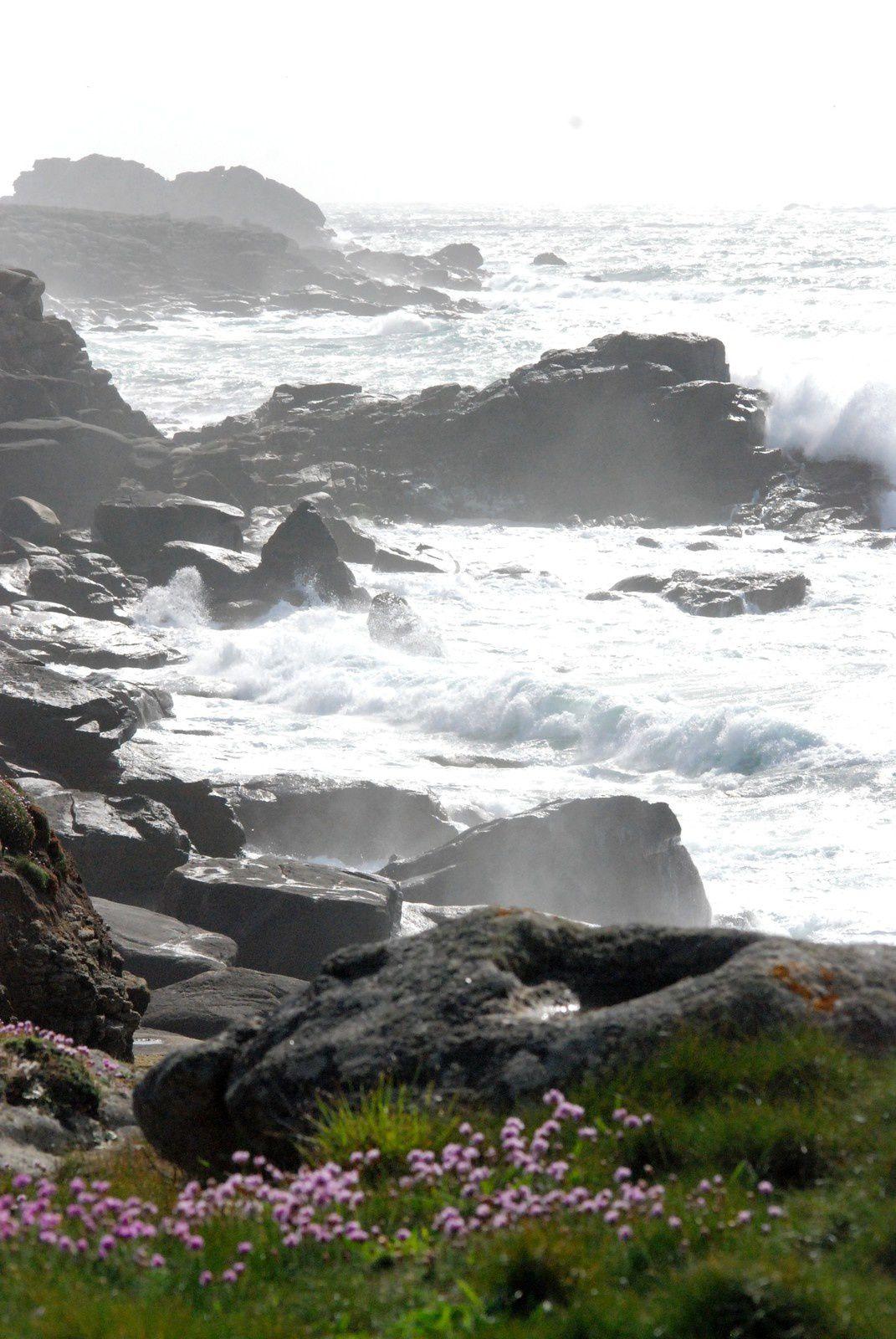 mer démontée par beau temps