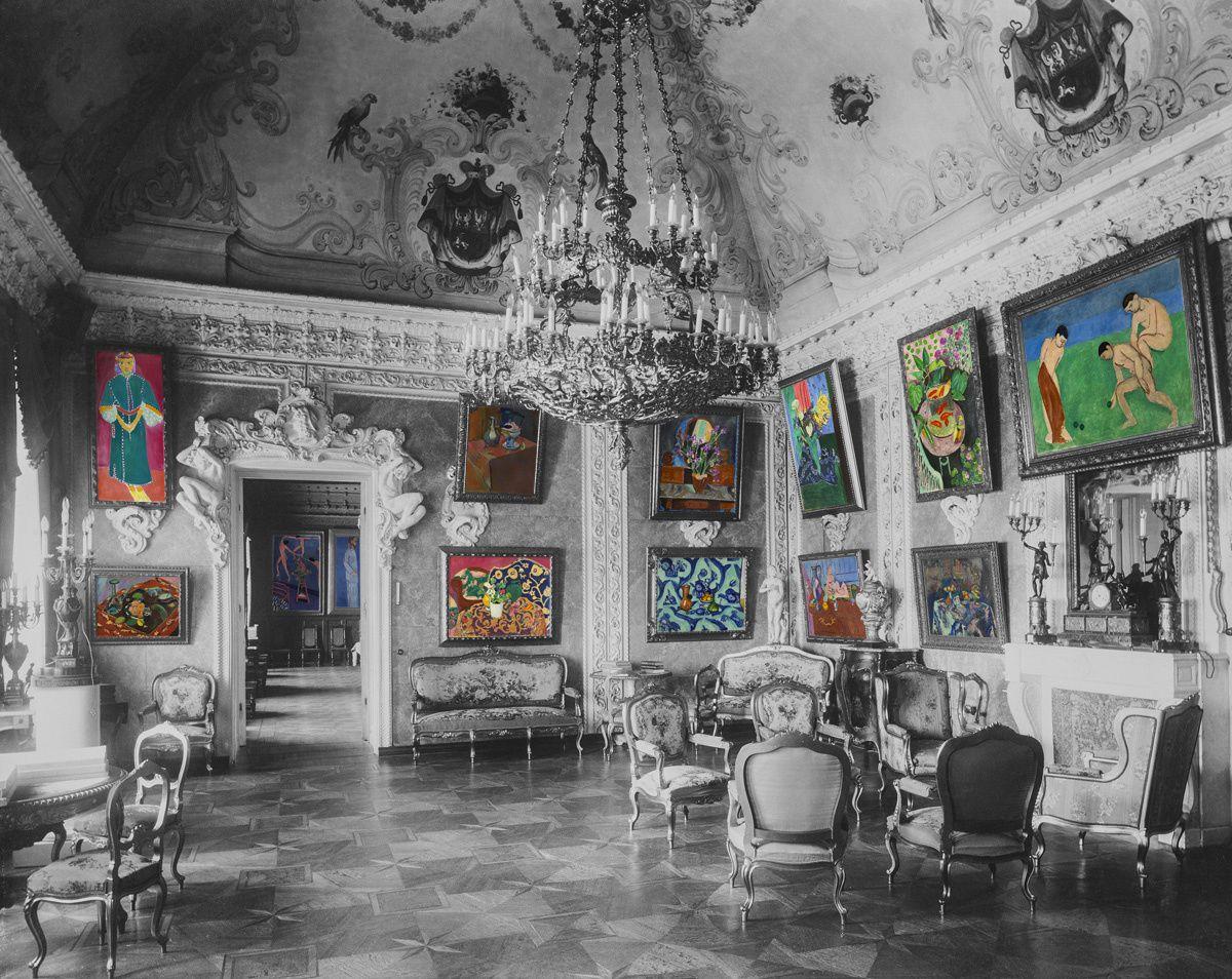 avec malice, il tapisse aussi ses murs de tableaux d'Анри Матисс