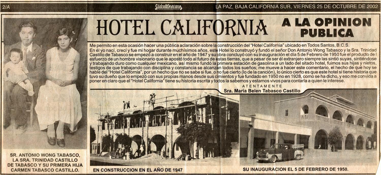 légendes autour d'Hotel California