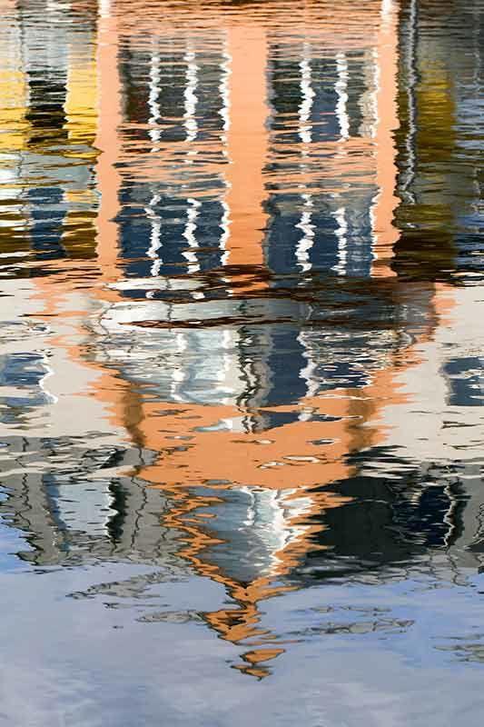 Au bord du canal, reflets