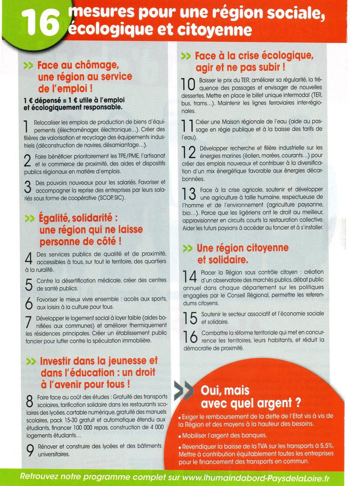 &quot&#x3B;L'Humain d'abord&quot&#x3B; Pays de la Loire : le rassemblement pour une alternative à l'austérité