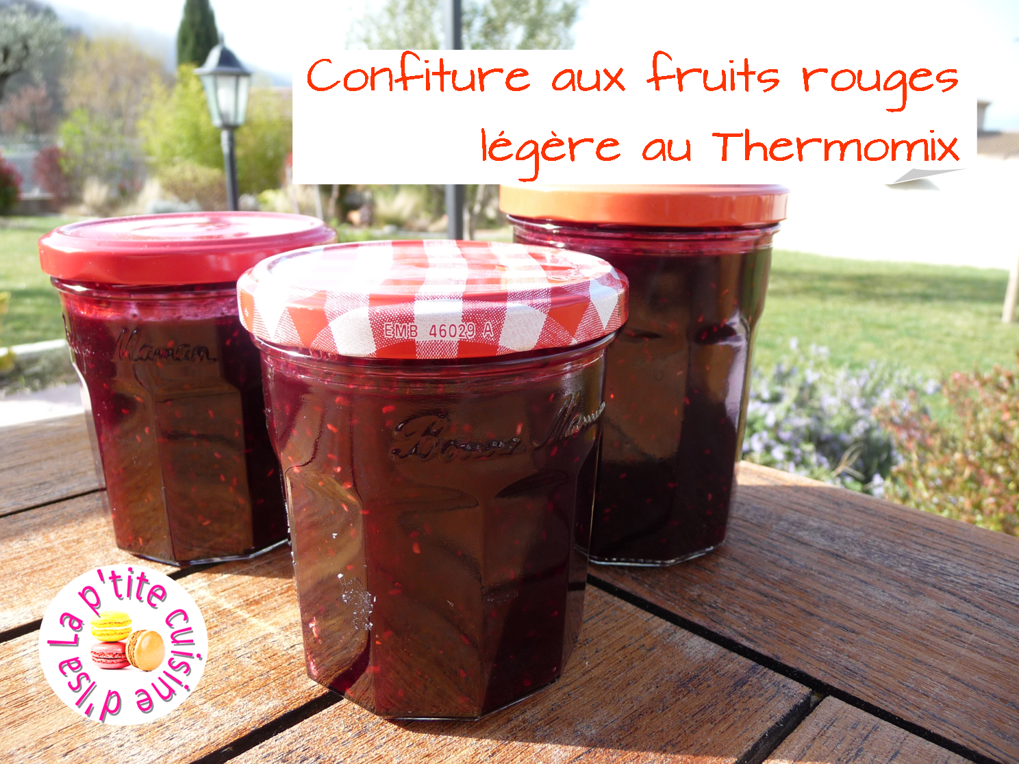 Confiture aux fruits rouges légère au Thermomix