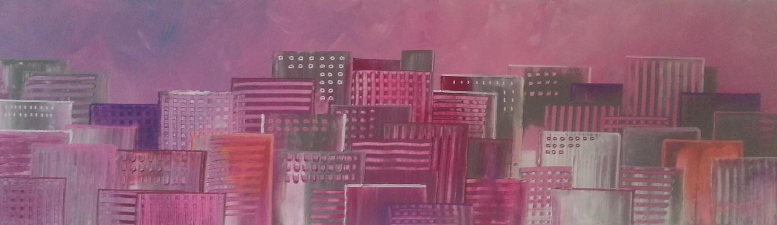 Pink city, format 100x30