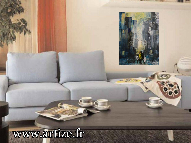 Peinture acrylique sur toile, Format 15P, 65x50cm