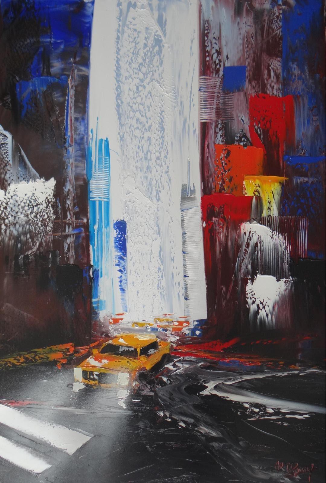 New-York, huile sur toile, format 100x81, disponible