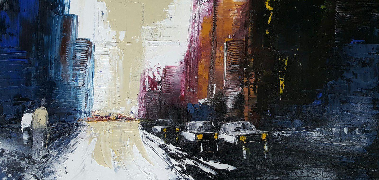"""""""Peut-être"""", huile sur toile, format 40x80"""