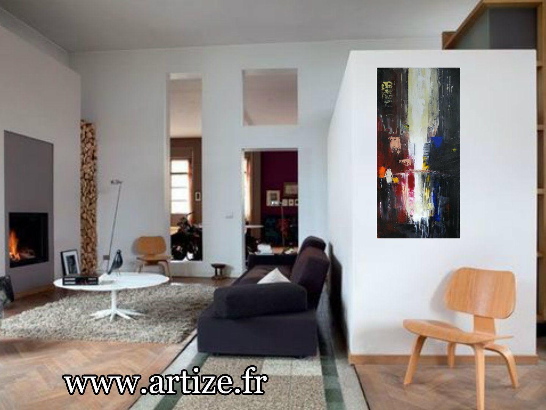 Reflets, huile sur toile, format 40x80, vendu