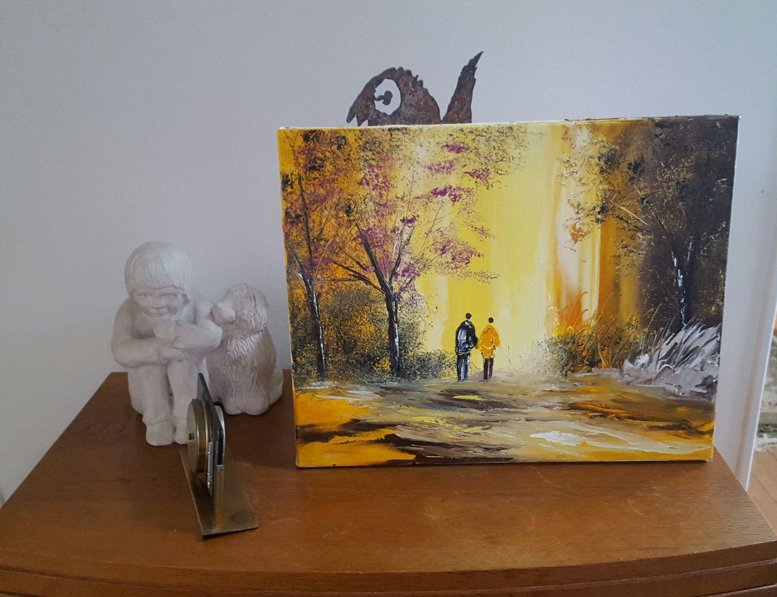 Lumière d'automne, huile sur toile, format 41x33, disponible