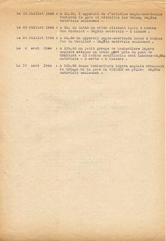 Juillet 1944, et la ville de Vierzon fut bombardée