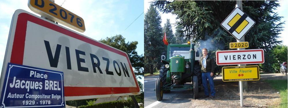 Brel et les tracteurs dans le reportage de France 3, tout l'ADN de Vierzon en fait !