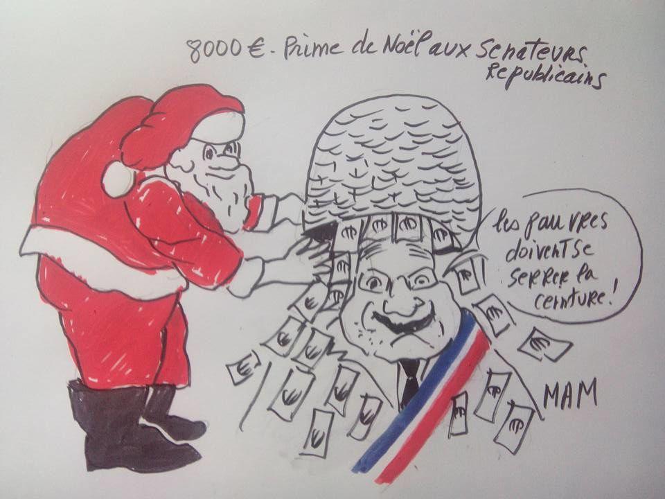 Quand nos chers sénateurs se gavaient de 8.000 euros d'étrennes à Noël