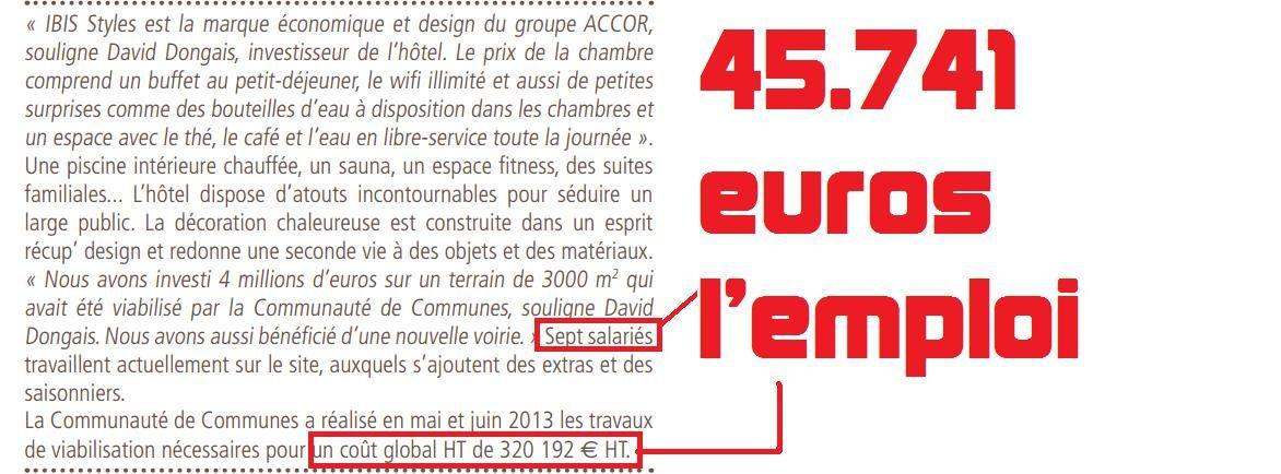 Bowling : 315.000 euros l'emploi; port sec : 33.000 euros, cherchez l'erreur !