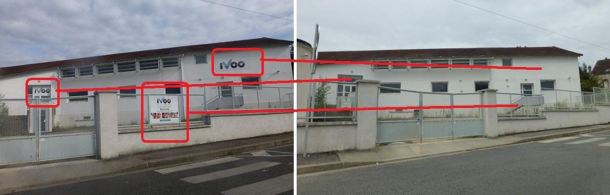 La façade a été pourtant soigneusement débarrassée des enseignes d'Ivoo....