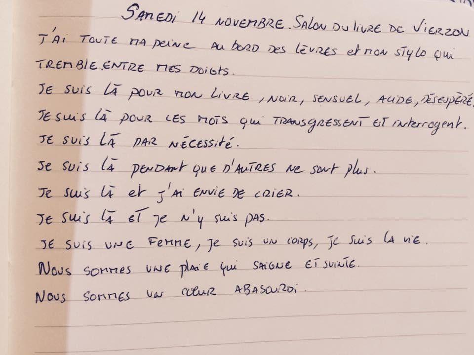 Teste écrit par Juliette Bouchet, auteur présent au salon du livre de Vierzon