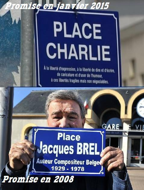 A Vierzon, de la place Jacques Brel à la place Charlie qui n'existent pas...