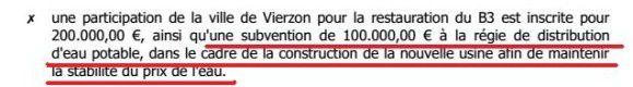 L'eau municipale : 100.000 euros par an avec nos impôts + 6 centimes par mètre cube bientôt !