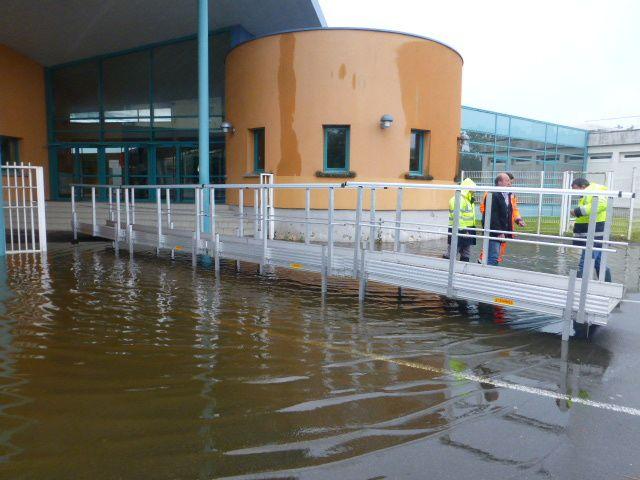 L'eau attaque le collège Fernand Léger