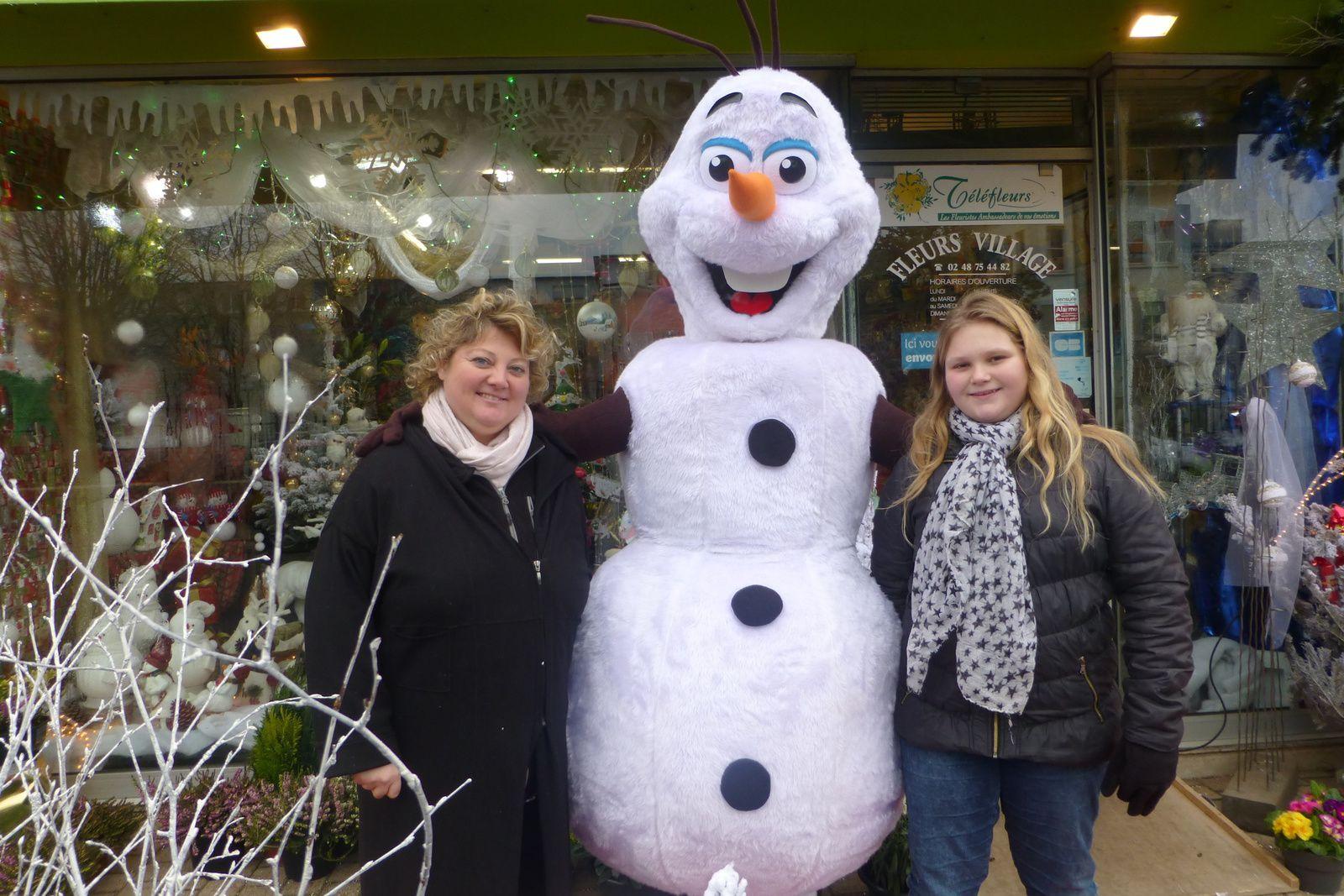 Il fait tellement froid à Vierzon qu'Olaf, le bonhomme de neige de la Reine des neiges a décidé de venir habiter à Vierzon-Villages !