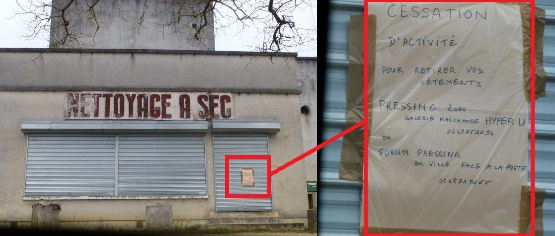 Le pressing Geslin cesse son activité rue Etienne Nivet
