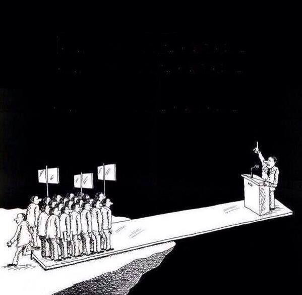 Je vote donc je suis celui sur lequel le politique s'essuie