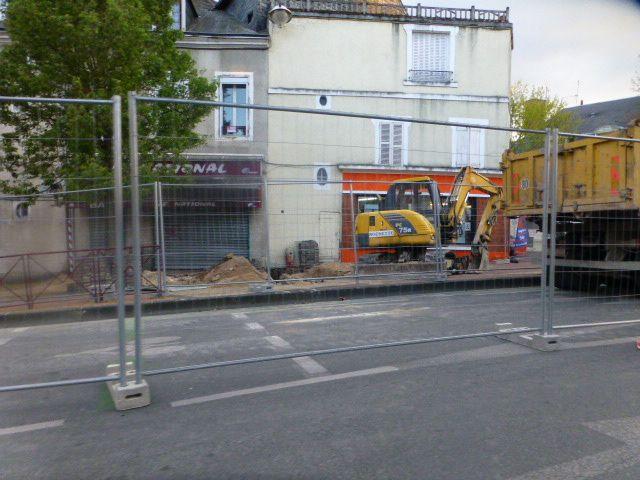 Les travaux d'avant les démolitions en centre-ville
