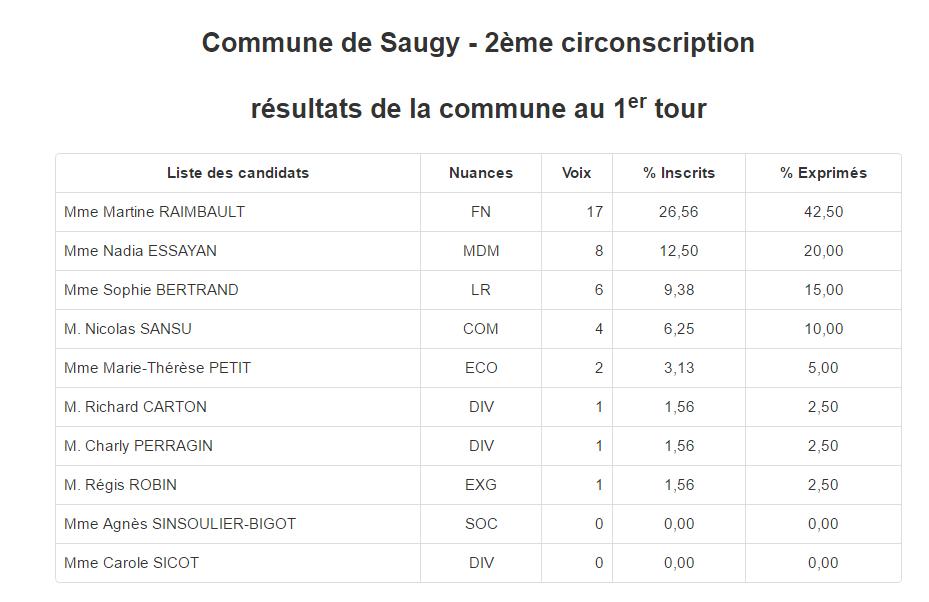 Elections législatives : les résultats par communes dans la deuxième circonscription