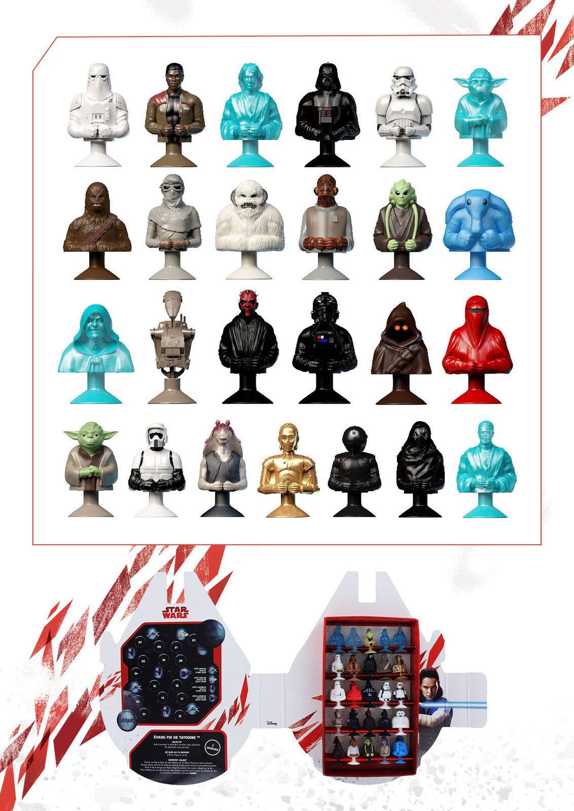 Des figurines Star Wars dans