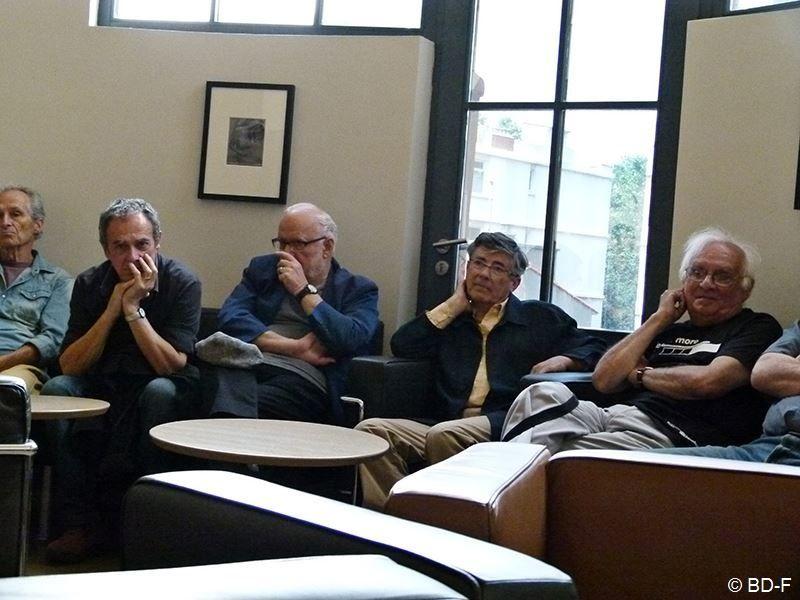 Serge Fauchier, Jacques Quéralt, Olivier Poisson et Bernard Banyuls