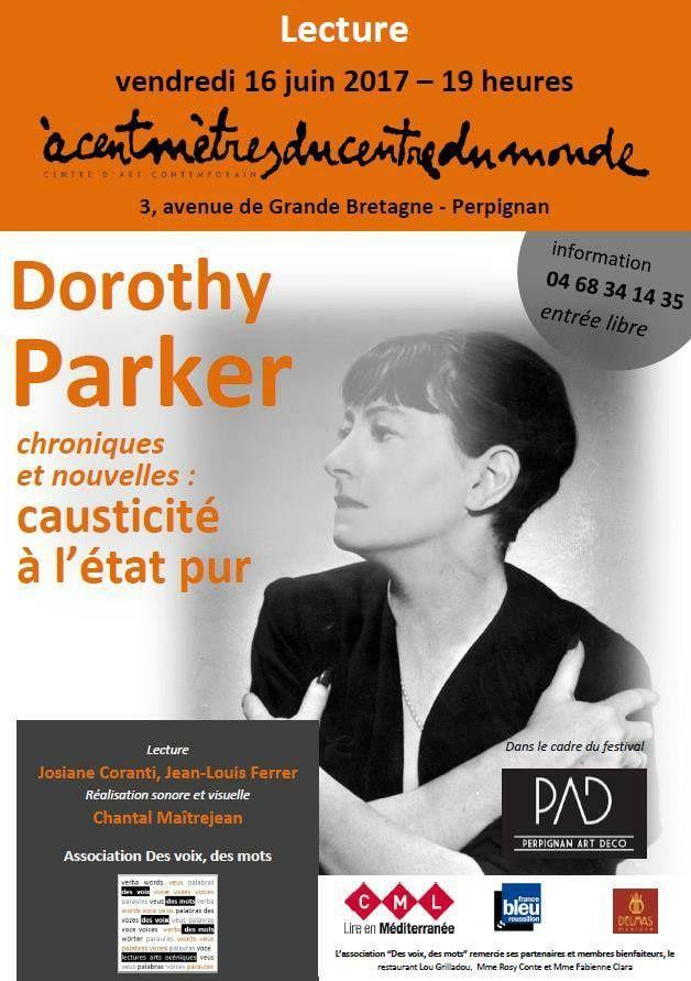 Lecture Dorothy Parker, avec Des voix, des mots