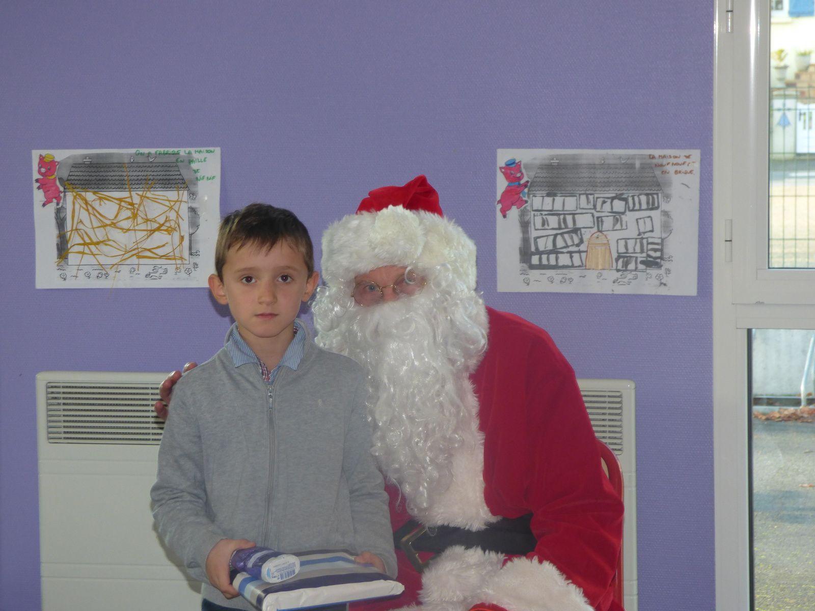 Photos avec le Père Noël.