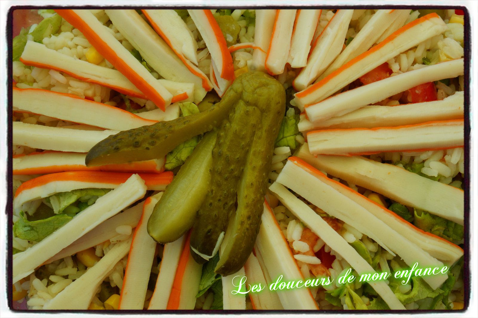 Salade de riz et sauce vinaigrette à la Moutarde Mirabelle de RAIFALSA - ALELOR