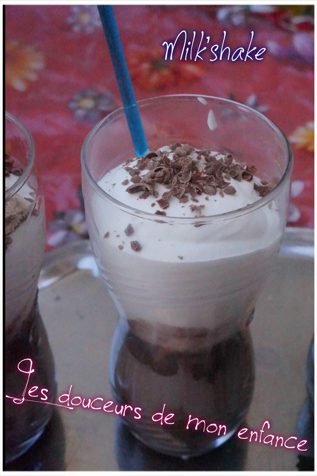Milk'shake chocolat  douceurs barres chocolatées