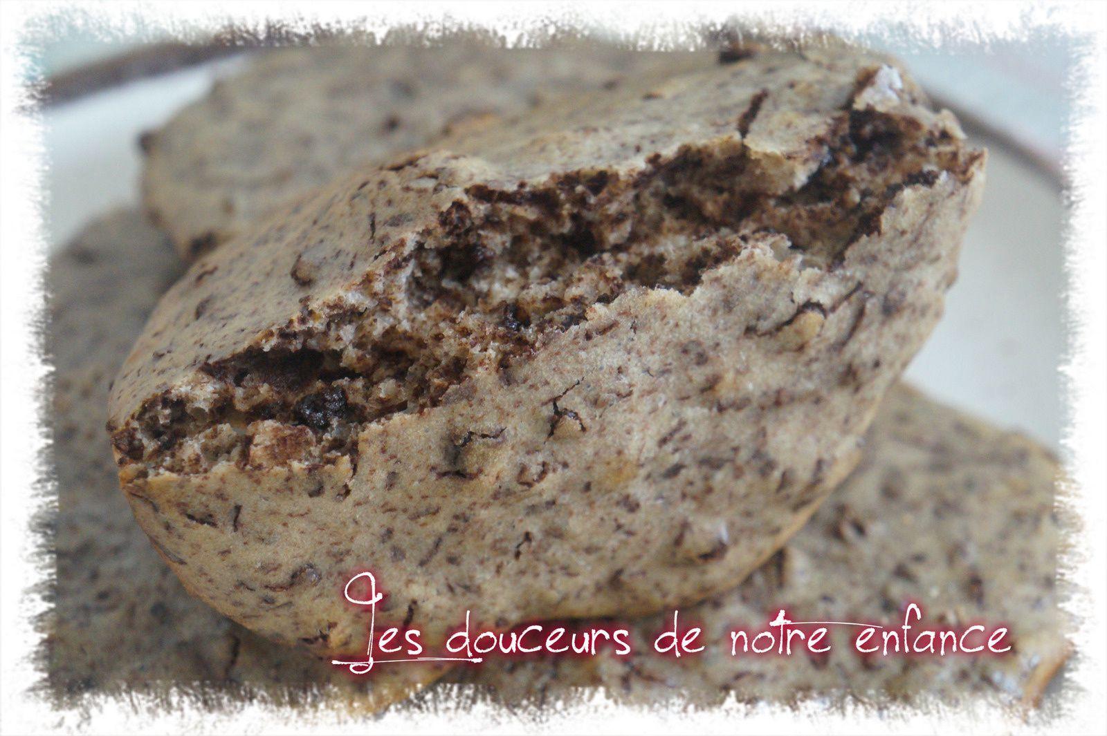 Cookies au chocolat noir points ww