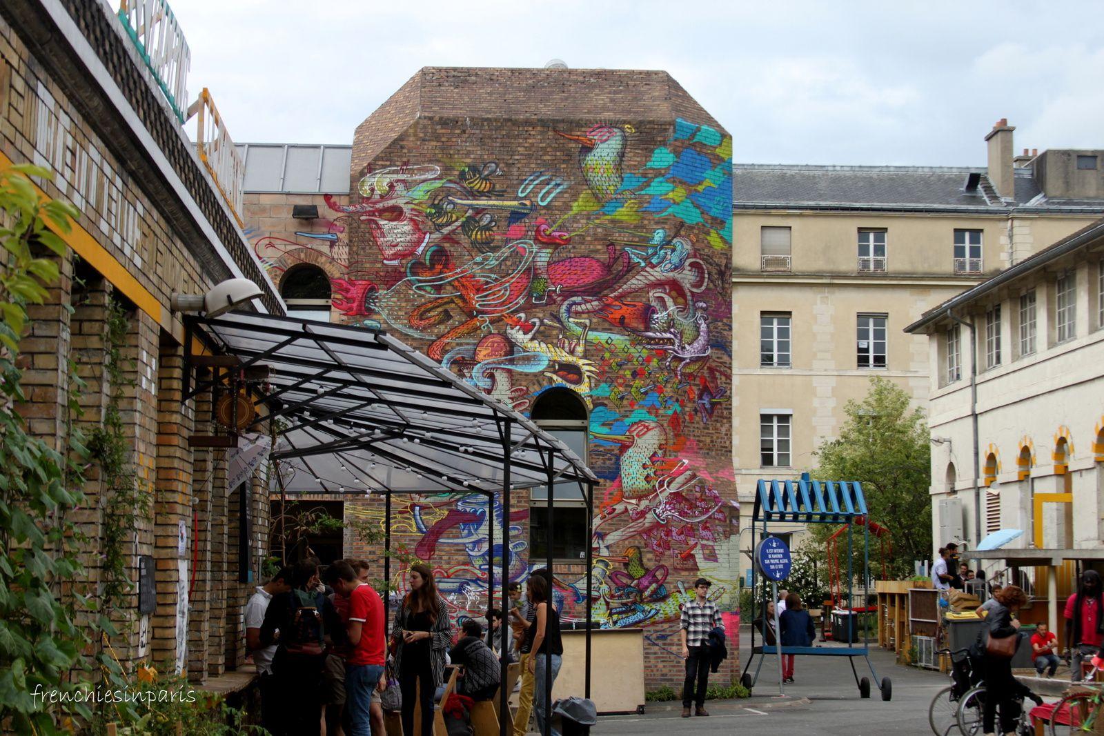 Le street art @ Les grands voisins
