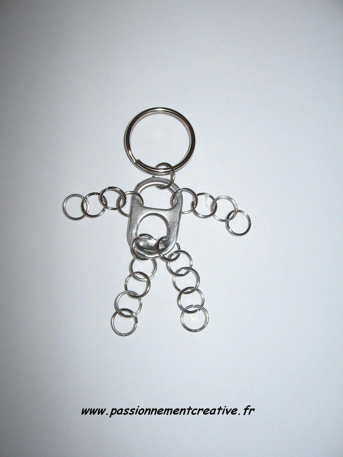 Porte-clés en récup