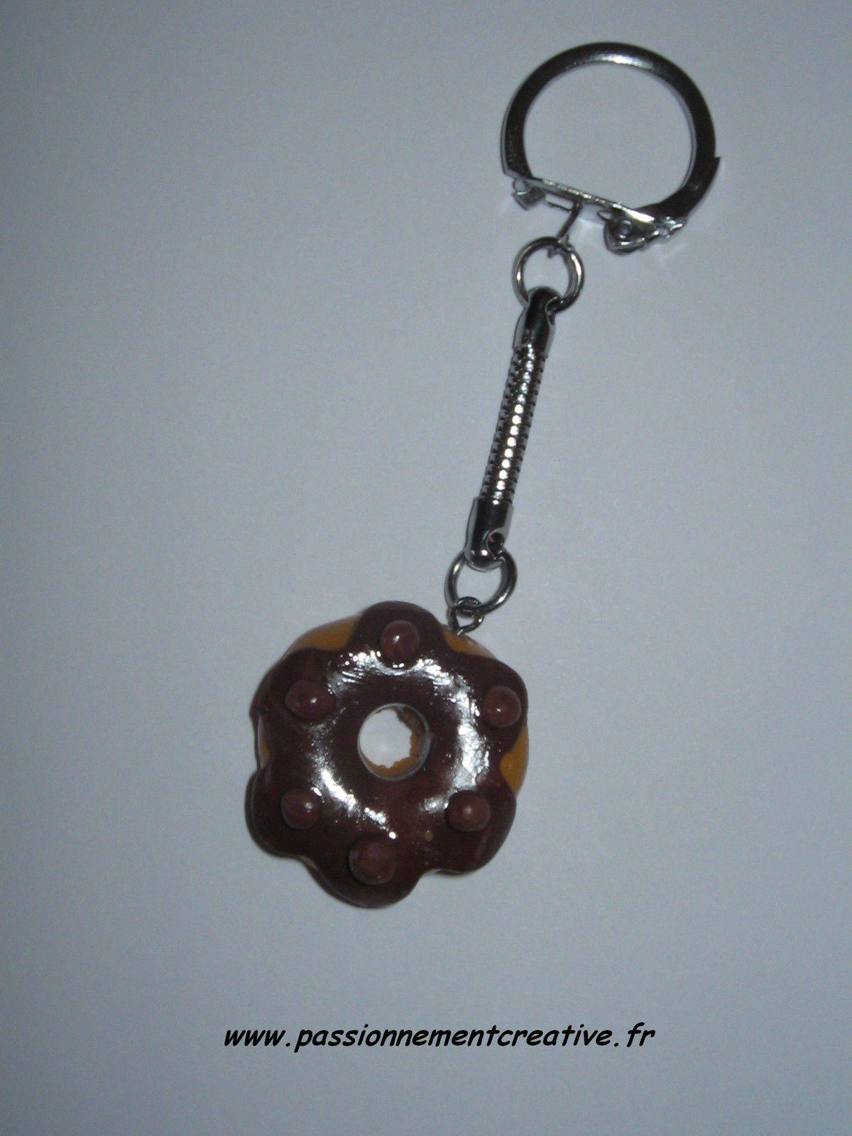 Porte-clés Donuts en fimo
