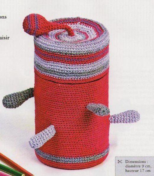 Tutoriel Crochet - Boite à crayons